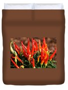 Firey Red Hot Chili Peppers Duvet Cover