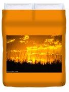 Firey Sunset Duvet Cover