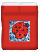 First Lady Bug By Schulmanart Duvet Cover
