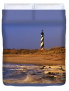 First Light At Cape Hatteras - Fs000257 Duvet Cover