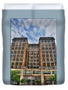 First Niagara Building With Takis Duvet Cover