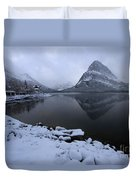 First Snow At Grinnell Duvet Cover