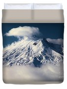 First Snow At Mt St Helens Duvet Cover