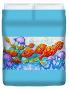 Fish Abstract Painting Duvet Cover