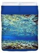 Fish And Coral Underwater Reflected In Duvet Cover