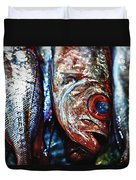 Fresh Fish At The Market Duvet Cover