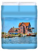 Fish House On The Island Duvet Cover