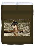 Fisherman Mekong 2 Duvet Cover