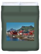 Fishermen's Houses Duvet Cover