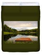 Fishing A Mirror Duvet Cover