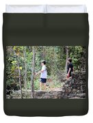Fishing Beyond The Gristmill Duvet Cover