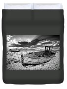 Fishing Boat Graveyard Duvet Cover