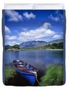 Fishing Boat On Upper Lake, Killarney Duvet Cover