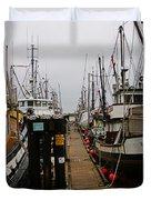 Fishing Boat Walkway Duvet Cover