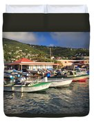 Fishing Boats In Frenchtown Duvet Cover
