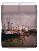 Fishing Boats Of Steveston-ca Duvet Cover