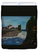 Fishing By The Falls Duvet Cover