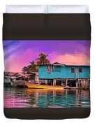 Fishing Camp Twilight Duvet Cover