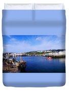Fishing Harbour, Dunmore East, Ireland Duvet Cover