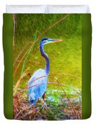 Fishing In The Reeds Duvet Cover