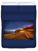 Fishing Night Off Duvet Cover