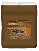Fishing The Golden Hour Duvet Cover