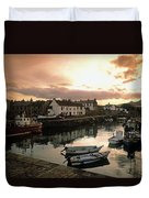 Fishing Village In Ireland Duvet Cover