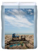 Fishing Winches Duvet Cover