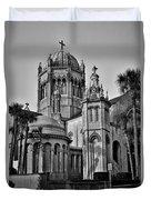Flagler Memorial Presbyterian Church 3 - Bw Duvet Cover