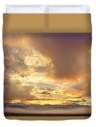 Flagstaff Fire Sky Boulder Colorado Duvet Cover