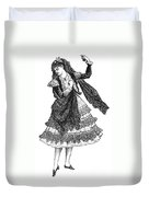 Flamenco Dancer Duvet Cover