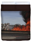 Flames Billow Out Of The Burn Pit Duvet Cover