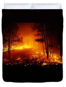 Flames From A Forest Fire Light Duvet Cover