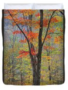 Flaming Fall Foliage Duvet Cover