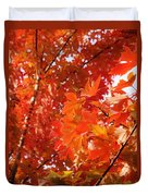 Flaming Maples Duvet Cover