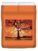 Flaming Oak Duvet Cover