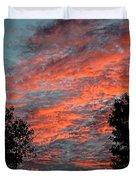 Flaming Sky Duvet Cover