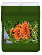 Flaming Sunflowers Duvet Cover
