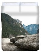 Flattop Rock Yosemite Duvet Cover