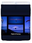 Flight Of Fantasy With Caption Duvet Cover