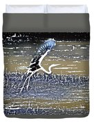 Flight Of The Egret V5 Duvet Cover