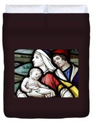 Flight To Egypt Stained Glass Duvet Cover