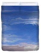 Flight Under Glass Duvet Cover