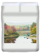 Float Plane On Pond Near Golden Road Maine Photo Poster Print Duvet Cover