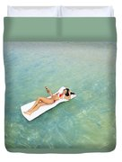 Floating At Sea Duvet Cover