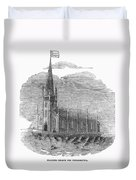 Floating Church, 1849 Duvet Cover
