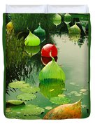 Glass Sculpture Memories Duvet Cover