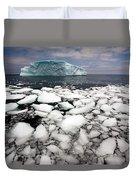 Floating Ice Shattered From Iceberg Duvet Cover