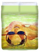 Floating In Water Duvet Cover