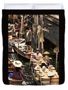 Floating Market Bangkok Duvet Cover